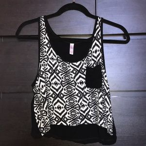 Cropped Aztec tank top